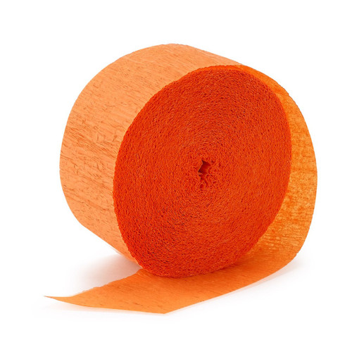 Crepe streamer Orange Garland (81ft)