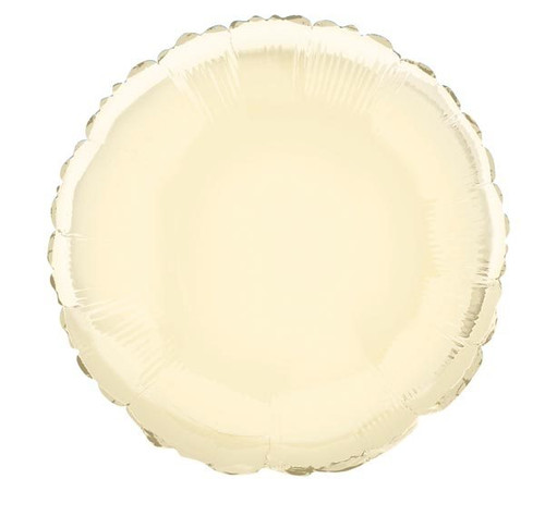 Round Ivory Foil Balloon (18 in)