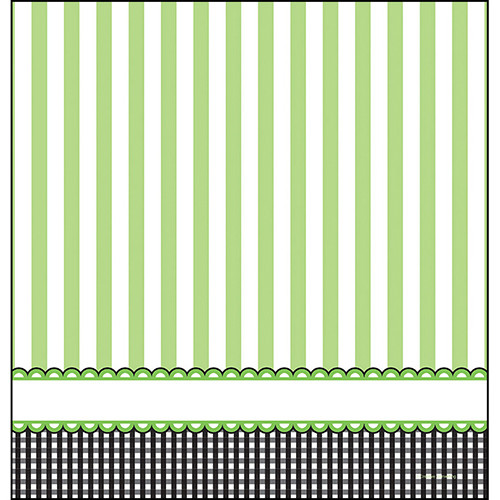 Candy Stripe Footprint Neutral Tablecover