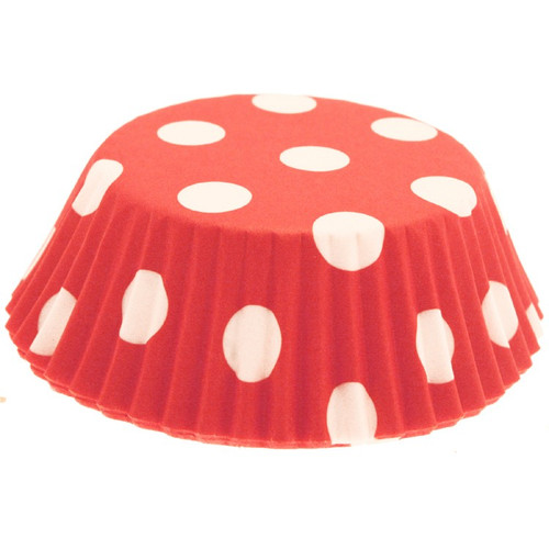 Cupcake Cases Red Polkadot (54)