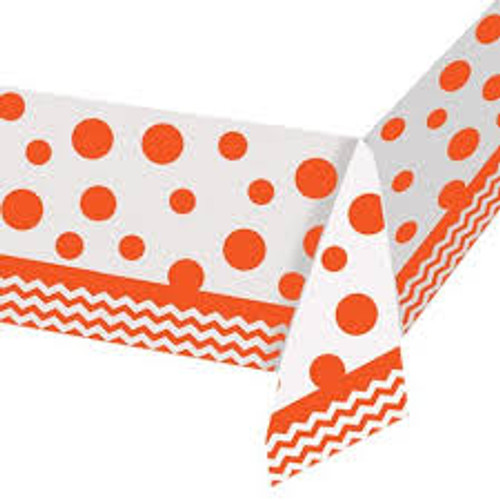 Chevron Sunkissed Orange Tablecover (52in x 102in)