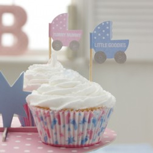 Tiny Feet Cupcake Food Picks (20)