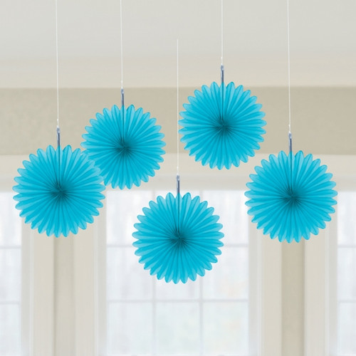 Mini Blue Hanging Fan Decoration (3)