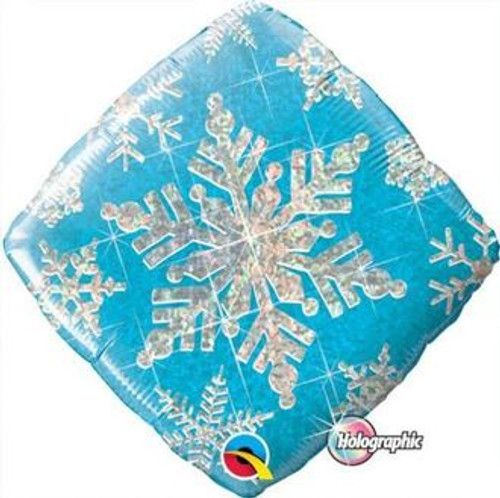 Snowflake Sparkles Blue Foil Balloon (18in)