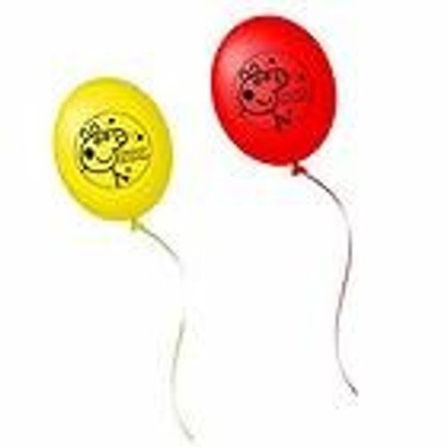 Peppa Pig Party Time Latex Balloons (203790)