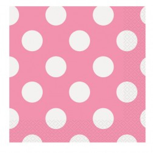 Pink Big Dots Napkins (16)
