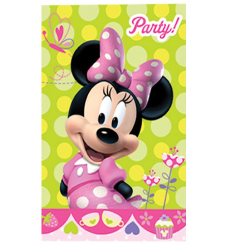 Minnie Mouse Pink Polka dot Invites (6)