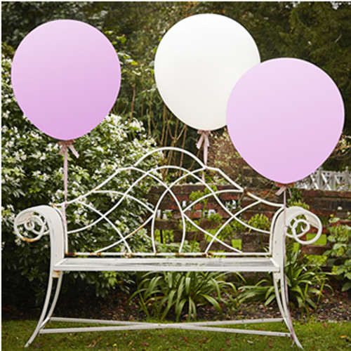 White & Pink 36 Inch Feature Balloons Vintage Affair