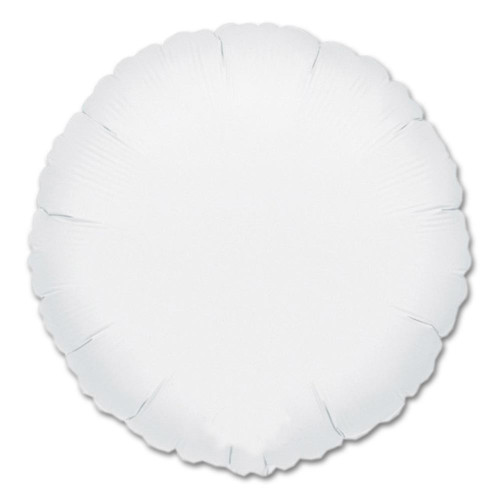 White Round Foil Balloon
