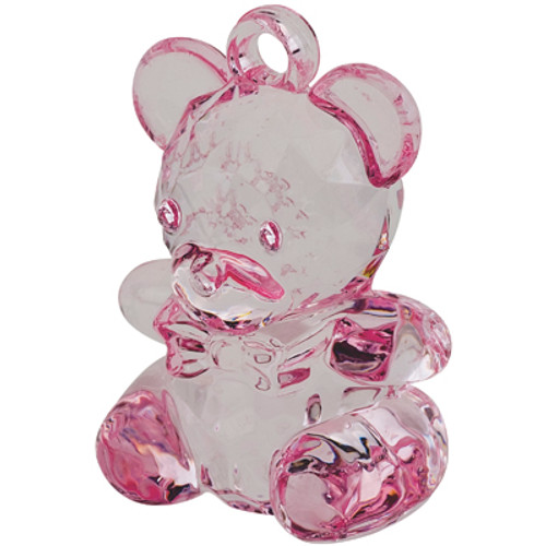Acrylic Pink Teddy Bear DIY Favour (1)