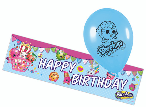 Shopkins Decorations Balloons and Banner