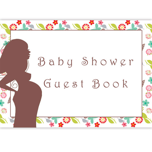 Labour Of Love Floral Baby Shower Guest Book