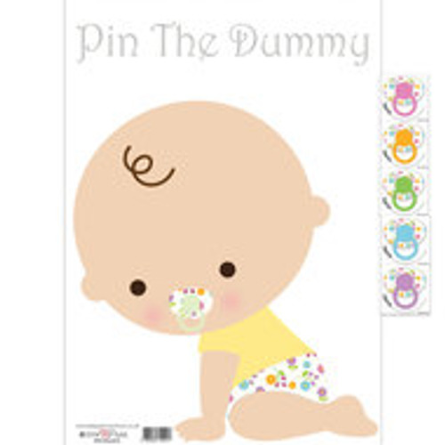 Baby Shower Pin The Dummy Game (White)