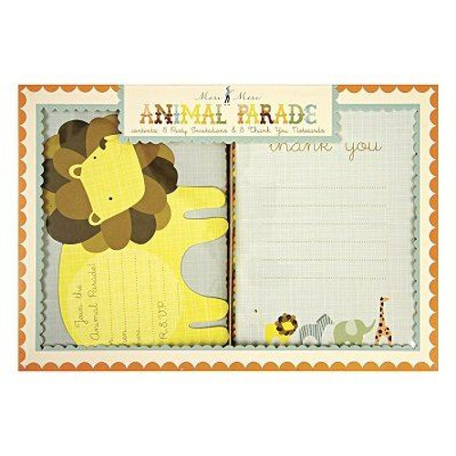 Animal Parade Invites and thank you cards set