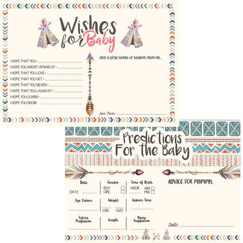 Baby Shower Tribal Baby Prediction & Wishes Cards (16)