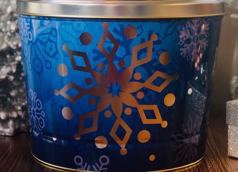 Blue Snowflake Tin - 2 Gallon