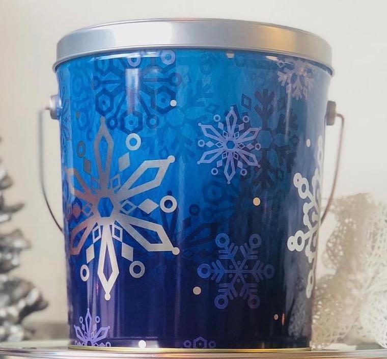 Blue Snowflake Tin - 1 Gallon