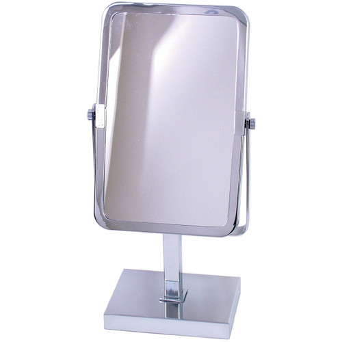 3151 Square Mirror On Stand Chrome