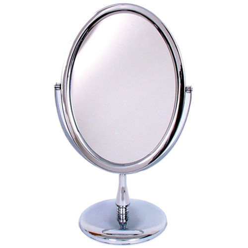 3209 Oval Mirror On Stand Chrome
