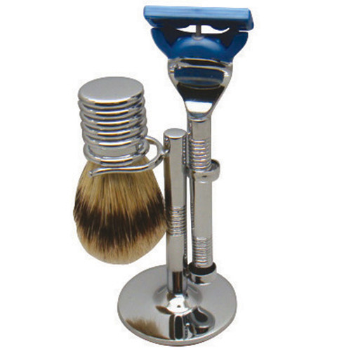 3025 Fusion Chrome Shave Set w/Bristle