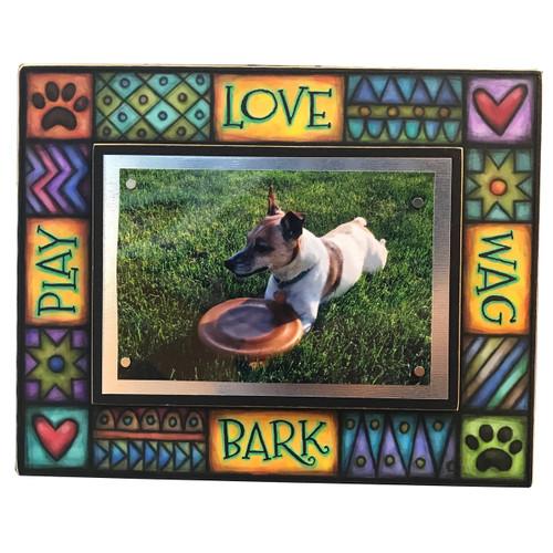 Wood Art Frame - Love Play Bark