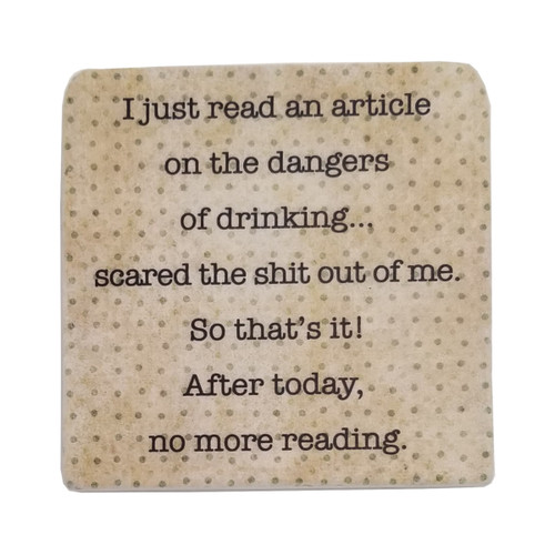 Paisley and Parsley Coaster - I just read an article on the dangers of drinking