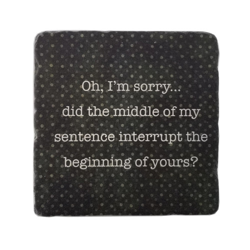 Paisley and Parsley Coaster - Did the middle of my sentence interrupt the beginning of yours?
