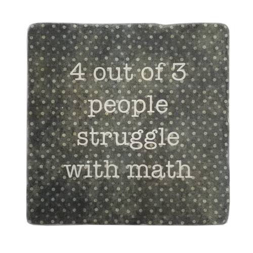 Paisley and Parsley Coaster - 4 out of 3 people struggle with math