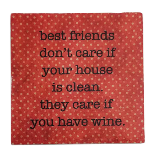 Paisley and Parsley Coaster - best friends don't care