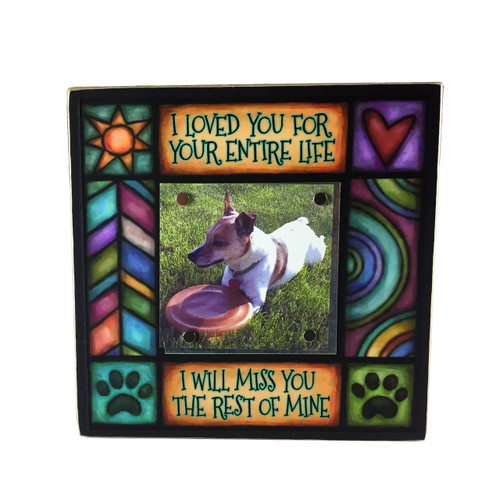 Wood Art Small Frame - I loved you for my life