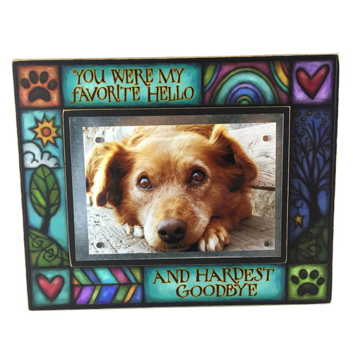 Wood Art Picture Frame - Favorite hello