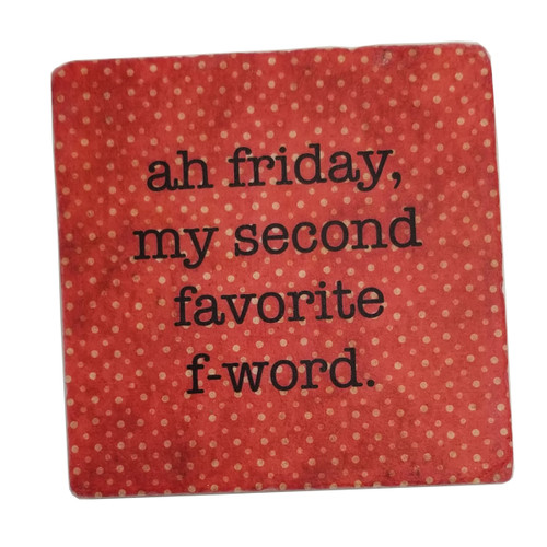 Paisley and Parsley Coaster - ah Friday, my second favorite f-word.