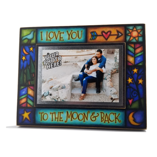 Wood Art Frame - I Love You To the Moon & Back