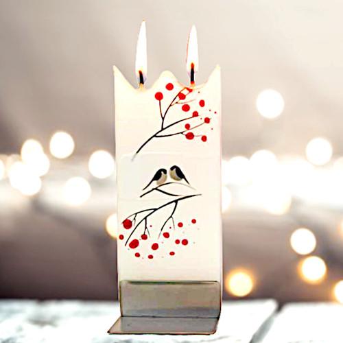 Flatyz Candles - Holiday Birds - White