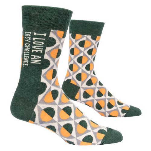 Men's Socks - I Love an Easy Challenge
