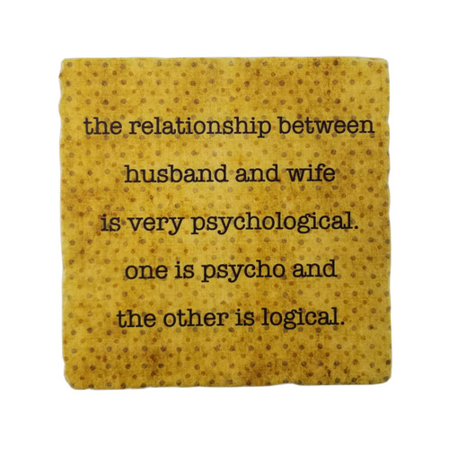 Paisley and Parsley Coaster - The Relationship between husband and wife