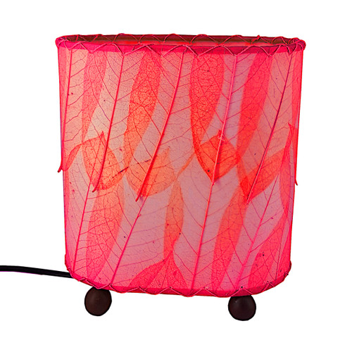 Eangee Oval, Guyanano Leaf Lamp – Pink