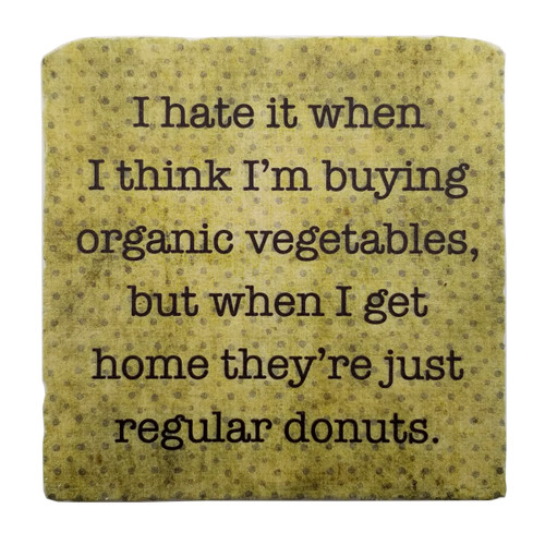 Paisley and Parsley Coaster - I hate it when I think I'm buying organic vegetables
