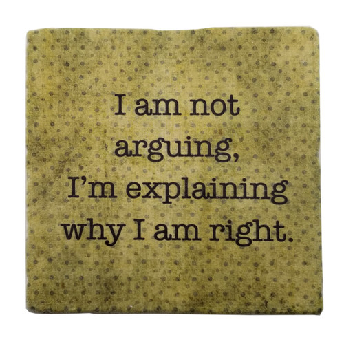 Paisley and Parsley Coaster - I am not arguing