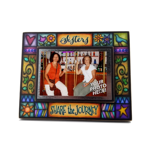 Wood Art Frame - Sisters Share The Journey