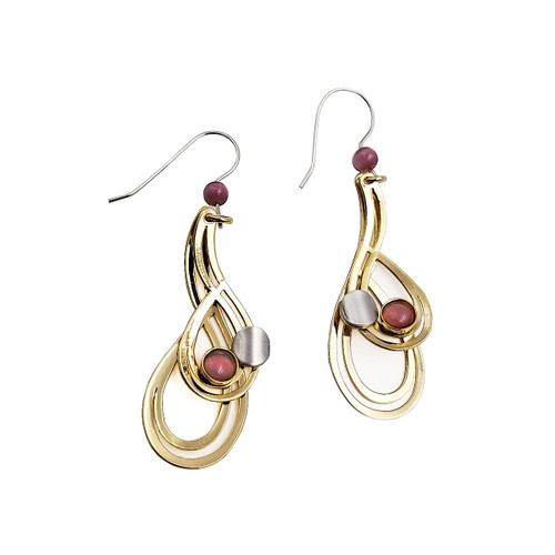 Christophe Poly Golden Teardrop Earrings