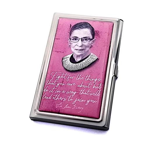 Card Case - RBG Quote - Fight for the things