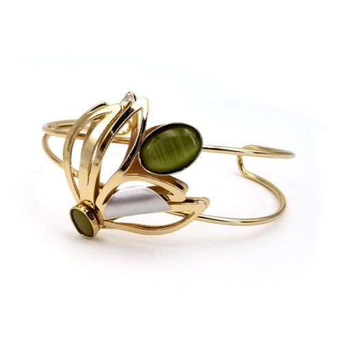 Christophe Poly Copper Leaves Cuff