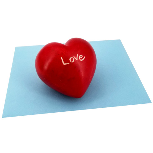 Love Soapstone Paperweight