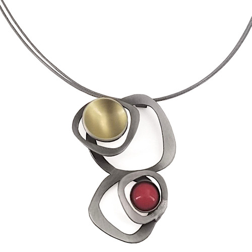 Christophe Poly Red Circle Necklace