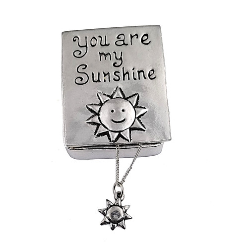 Sunshine Wish Box with Sun Necklace