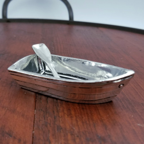 Boat Salt Cellar with Spoon