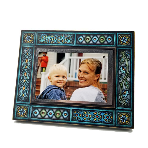 Wood Art Frames - Blue Motif