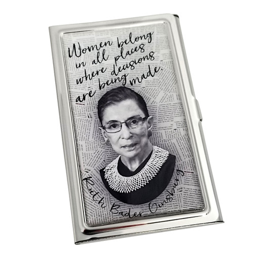 Card Case - RBG Quote - Women Belong In All Places