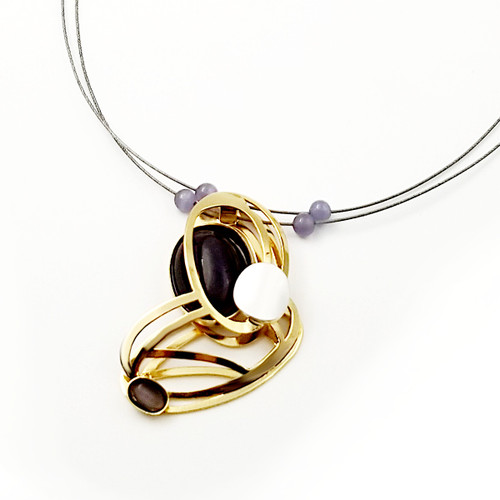 Christophe Poly Golden Ovals Necklace